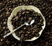 Kawowe fasole w masie Obrazy Stock