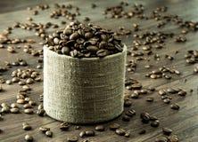 Kawowe fasole w masie Fotografia Stock