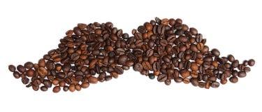 Kawowe fasole w postaci bokobrodów Obrazy Royalty Free