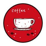 Kawowe fasole z filiżanki ikoną Zdjęcie Royalty Free