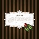 Kawowe fasole z liśćmi Zdjęcie Stock
