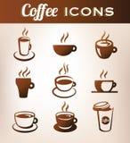 Kawowe ikony Zdjęcia Royalty Free