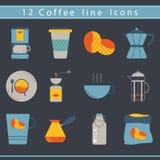 Kawowe ikony Zdjęcie Stock