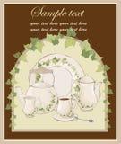kawowe ilustracje puszkują łyżkowego teapot Fotografia Stock
