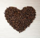 Kawowe kierowe fasole Odgórny widok kawa gotowa wykorzystania tła Obraz Royalty Free