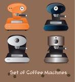 Kawowe maszyny ilustracja wektor