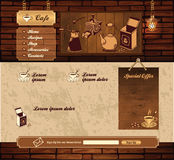 Kawowego grunge retro strona internetowa Obrazy Royalty Free