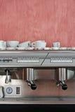 kawowego kawa espresso ujawnienia długi maszynowy fotografii przygotowania proces Obraz Royalty Free