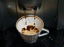 kawowego kawa espresso ujawnienia długi maszynowy fotografii przygotowania proces Fotografia Stock