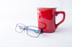 KAWOWEGO kubka I oka szkła Zdjęcie Royalty Free