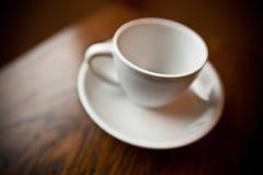 kawowego kubka talerza biel Obrazy Stock
