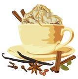 kawowej śmietanki filiżanki pikantność Zdjęcie Royalty Free