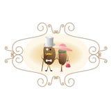 Kawowej fasoli charaktery Zdjęcia Royalty Free