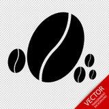 Kawowej fasoli ikony Odizolowywać Na Przejrzystym tle - Wektorowa ilustracja - Obraz Royalty Free