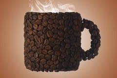 Kawowej fasoli kubek Obrazy Royalty Free