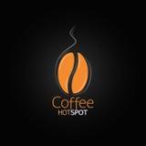 Kawowej fasoli projekta menu tło Obraz Stock