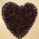 Kawowej fasoli serce Obraz Royalty Free