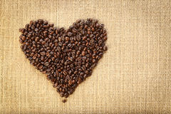 Kawowej fasoli serce zdjęcie stock