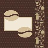 Kawowej fasoli strona ilustracja wektor