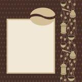 Kawowej fasoli strona royalty ilustracja