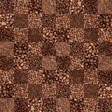 Kawowej fasoli warcaby taflujący wzór Zdjęcie Royalty Free