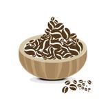 Kawowej ikony kawowej fasoli ustalony sklep z kawą Obraz Royalty Free