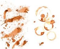 Kawowej plamy ustalona kolekcja Obraz Royalty Free