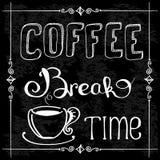 Kawowej przerwy czas, wektorowa ilustracja Zdjęcie Stock