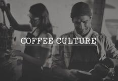 Kawowej przerwy czasu kultury relaksu przyjemności pojęcie Fotografia Royalty Free