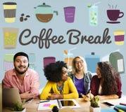 Kawowej przerwy napoju fermaty relaksu Przypadkowy pojęcie zdjęcia stock