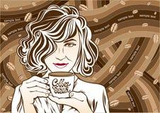 Kawowej przerwy sztuki ilustracja Obraz Royalty Free