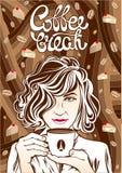 Kawowej przerwy sztuki ilustracja Obrazy Royalty Free
