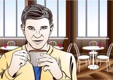 Kawowej przerwy sztuki ilustracja Zdjęcie Stock