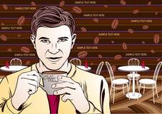 Kawowej przerwy sztuki ilustracja Zdjęcia Stock