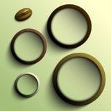 Kawowi abstraktów okręgi z miejscem dla twój teksta Obraz Royalty Free
