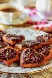 Kawowi i domowej roboty ciastka fotografia royalty free