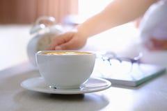 Kawowy łóżko Zdjęcie Royalty Free