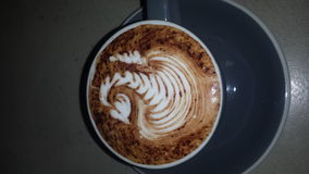 Kawowy łabędź Fotografia Royalty Free