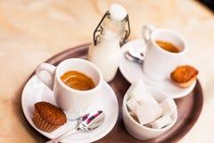 Kawowy śniadanie Obraz Royalty Free