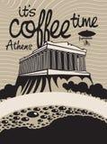 Kawowy Athens Fotografia Stock