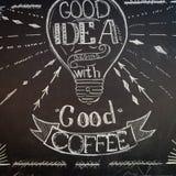 Kawowy blackboard Obrazy Stock