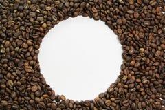 Kawowy bobowy okrąg obraz stock
