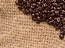Kawowy bobowy tło Fotografia Royalty Free