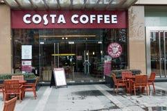 Kawowy Costa sklep Obraz Royalty Free