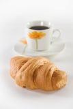 kawowy croissant Zdjęcia Stock