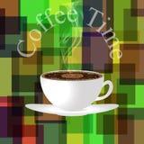 (1) kawowy czas royalty ilustracja