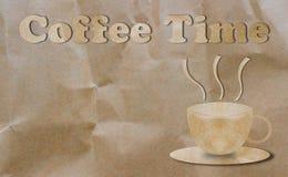Kawowy czas, przerwa czasu pojęcie Fotografia Royalty Free