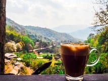 Kawowy czas w kawiarni na górze Obraz Stock