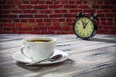 Kawowy czas w ranku Zdjęcia Royalty Free