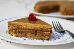 Kawowy czas z Kawowym tortem Fotografia Stock